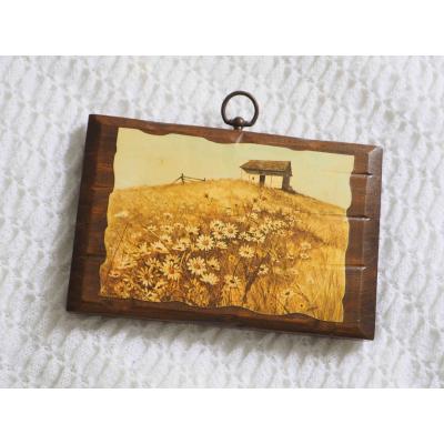 Wood Plaque Decoupage Art