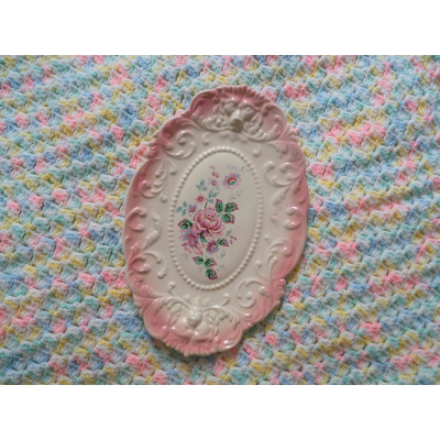 Floral Plate Wall Hanging