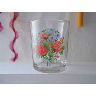 Floral Glass Cup
